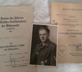 German 2nd War Paratrooper Document Group