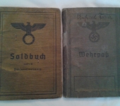 Soldbuch and Wehrpass Named to Friedrich Unfried