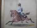 Late 19th Early 20th Century Watercolour of a Hussar