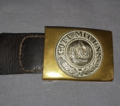 Imperial German Buckle and Tab