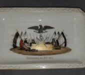 Porcelain Franco Prussian War Tray
