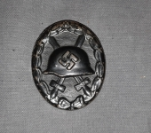 Third Reich Wound Badge in Black